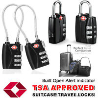 2-PACK TSA APPROVED COMBINATION PADLOCK TRAVEL SUITCASE LUGGAGE LOCK 3-DIAL LOCK