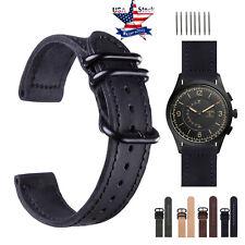 Retro Genuine Leather Watch Band Wrist Strap For Samsung Galaxy Watch 42mm 46mm