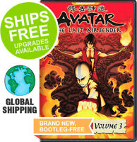 Avatar Last Airbender Book 3 Fire Volume 3 (DVD, 2008) NEW, Japanese Anime