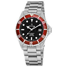 Grovana Men's Swiss Made Automatic Professional Diver Watch WR 300M $1400 NEW