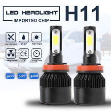H11 COB LED Headlight Bulb Hi/Lo Fog Beam DRL Headlamp 6000K 120W 24000LM Black