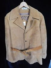 Vintage(?) Men's Peters Brown Suede Leather Button Down Jacket Size 42; Brazil