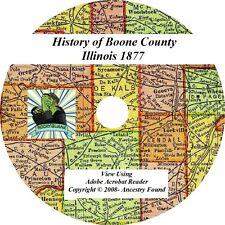 BOONE COUNTY ILLINOIS - History & Genealogy - Ancestry Familiy Tree IL CD DVD