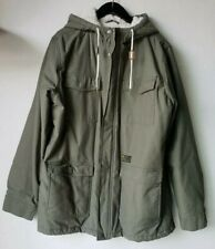 RIP CURL MEN'S SHERPA LINED HOODED FATIGUE CANVAS JACKET XL