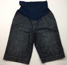 Maternity Denim Shorts Size M Belly Panel Stretch American Star