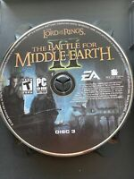 Lord of the Rings Battle for Middle Earth II 2 PC REPLACEMENT DISC # 3 Only