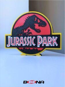 Decorative JURASSIC PARK self standing logo display
