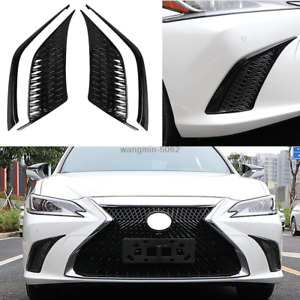 For 2019 Lexus ES 350 300h black Sport style front Modified side air outlet trim