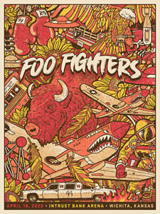 Foo Fighters - Wichita 2020 Limited Edition SE - Cancelled Show Poster