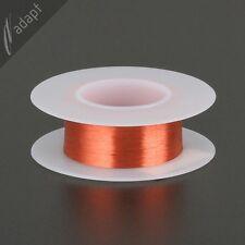 Magnet Wire, Enameled Copper, Red, 43 AWG (gauge), 155C, ~1/16 lb, 4000ft pickup