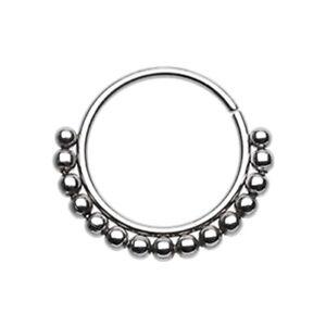 Rose Gold Bali Ball Steel Bendable Nose Hoop Silver Body Jewelry Sexy Fun Cute