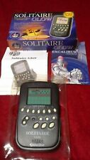 Solitaire GLOW Electronic Game Excalibur 370G Travel Glow In The Dark
