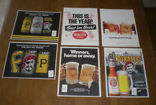 PITTSBURGH PIRATES & IRON CITY BEER AD PRINTS - YOUR CHOICE $5.99 EACH