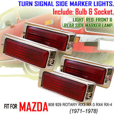MAZDA RX3 RX4 929 12A PICKUP TURN SIGNAL SIDE MARKER LIGHTS LENS RED x4 PLASTIC