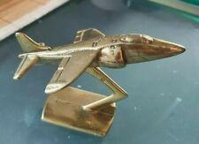 Rare maquette de l'avion mirage presse papier années 70..! En bronze massif