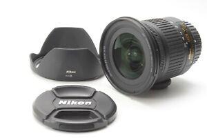 Nikon Nikkor AF-P 10-20mm F/4.5-5.6 G VR DX Lens - With Hood and F/R Lens Caps