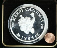 1986 5 Troy Oz Silver Mickey Mouse Holiday Collectable Round 99c NO RESERVE