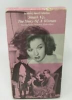 SMASH UP, THE STORY OF A WOMAN VHS VIDEO MOVIE, SUSAN HAYWARD, ALCOHOLISM, GUC