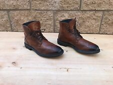 To Boot New York Hobson Wingtip Boots, Cognac Leather , Size 9.5 D