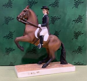 North Light - Horse Dressage Levade-Bay Figure - Hand Painted - Model P1180