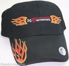 Dodge motorsports nascar flames hat embroidered adjustable cap black mopar ball