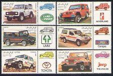 Sahara 1992 coches/transporte/Motoring/Land Rover/Jeep/4WD 6v + lbls Set (n32693)