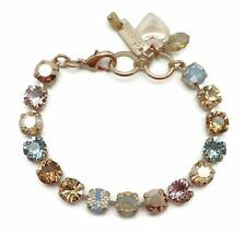 MARIANA Swarovski Crystal Rose Gold Bracelet Brown Blue Mix Bette 1092 Rhapsode