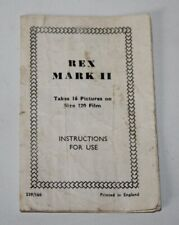 Coronet Rex mark II - Vintage Camera Instruction Manual