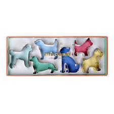 Conjunto de 6 Galleta Pastelería Cortadores De Galleta En Forma De Perro De Acero Inoxidable Por Meri Meri