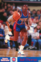 POSTER: NBA BASKETBALL:  ISIAH THOMAS - PISTONS 1990 - FREE SHIP  #7439   RP93 i