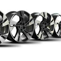 4x Audi 20 Zoll Felgen e-tron 4KE Alufelgen 4KE601025T 5-Arm-Dynamik-Design NEU