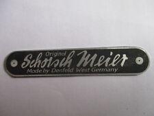 Typenschild Schild Sitzbank Schorsch Meier Denfeld BMW Motorrad Höcker s31