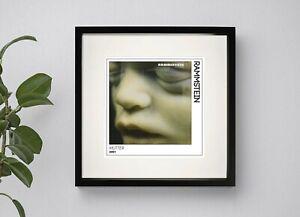 RAMMSTEIN - MUTTER  BOX FRAMED PRINT ARTWORK 3 Sizes Black or White