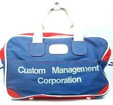 Adolfo New York City Bag Purse SM Duffle AAHA Patriotic Vtg 1986 Red White Blue