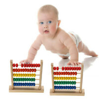 Children Wooden Bead Abacus Counting Frame Educational Learn Math Kids Toy WA