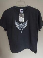 NWT Majestic NHL Washington Capitals Glow In Dark Hockey T-Shirt Youth Small