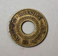 1927 Palestine Israel 5 Mils Nickel Circulated Coin