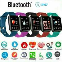 Fitness Smart Watch Bluetooth 4.2 Band Sport Activity Tracker For Android iOS