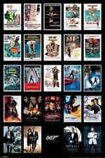 JAMES BOND MOVIE POSTERS COLLAGE POSTER (61x91cm) 007 PICTURE PRINT