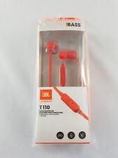 JBL T110 In-Ear 1 Button Headphones Earphones - Red