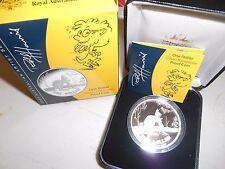 "2007  Kangaroo 1oz Silver Proof Coin Scarce "" $1 Rolf Harris """