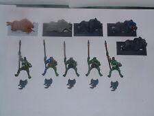 Warhammer orcos & goblins - 5 X ORCOS SALVAJES jabalí Chicos/Boyz, lanzas, metal fuera de imprenta
