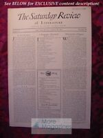 SATURDAY REVIEW March 15 1930 Walter Lippmann D. H. Lawrence Louis Bromfield