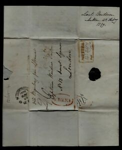 1839 British Military Letter from India - Writes of Anglo Afghan War - Historic!