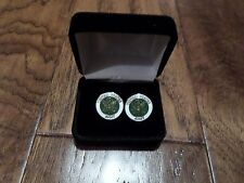 U.S MILITARY ARMY CUFFLINKS WITH JEWELRY BOX 1 SET CUFF LINKS BOXED