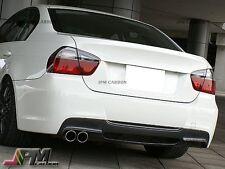 3D Style Carbon Fiber Rear Diffuser For BMW E90 E91 328i 4Dr w/ M Sport Bumper