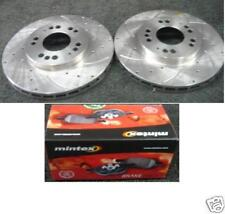 MITSUBISHI FTO MIVEC GP GPX GPR DRILLED GROOVED FRONT  BAKE DISC & PADS