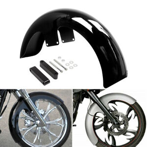 Hill Country Customs 21 Wheel Back-Cut Front Fender Kit w//Black Brackets Harley-Davidson Touring HC-21FDRBCKT-B