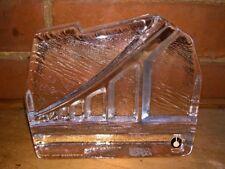 Vintage Pukeberg Sweden Glass Paperweight Oland Bridge Uno Westerberg Design '72