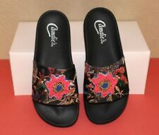 CANDIE'S SANDALS SLIDES SEXY SEQUIN EMBROIDERED CELEBRATION  SIZE 7 NEW